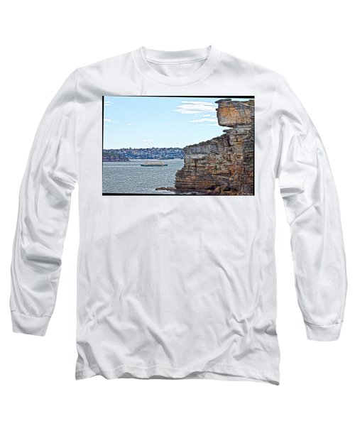 Long Sleeve T-Shirt featuring the photograph Manly Ferry Passing By  by Miroslava Jurcik