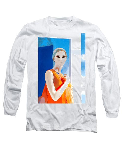 Mannequin In Orange  Long Sleeve T-Shirt