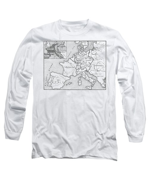 Map Of Europe, 1812-1815 Long Sleeve T-Shirt