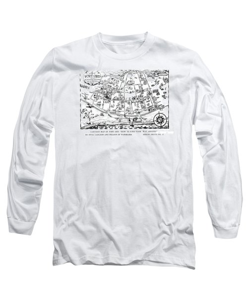 Map Of Fort Ord Army Base Monterey California Circa 1950 Long Sleeve T-Shirt