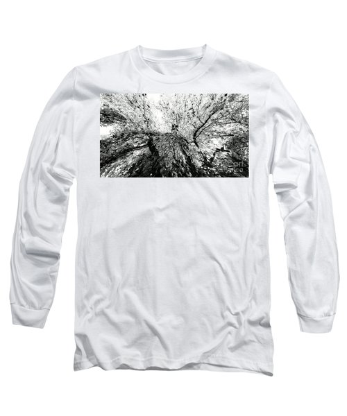 Maple Tree Inkblot Long Sleeve T-Shirt by CML Brown