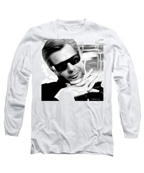 Marcello Mastroianni Portrait Long Sleeve T-Shirt