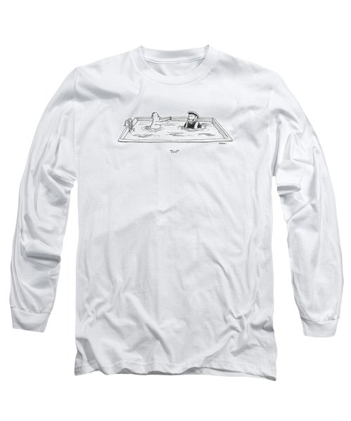 Marco Polo In A Pool With A Man Playing Marco Polo Long Sleeve T-Shirt