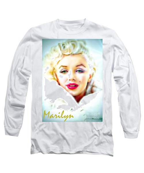 Marilyn Monroe Long Sleeve T-Shirt by Barbara Chichester