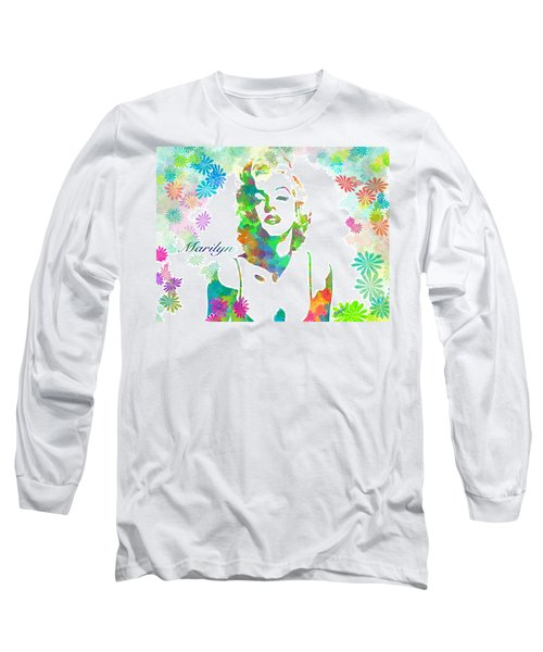 Marilyn Monroe Flowering Beauty Long Sleeve T-Shirt