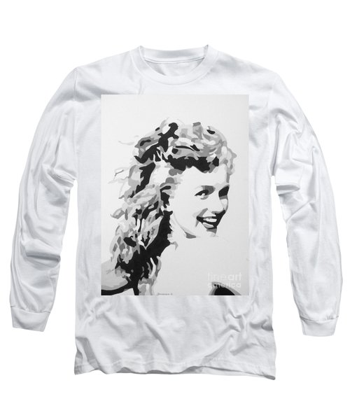 Marilyn Monroe Long Sleeve T-Shirt by Katharina Filus