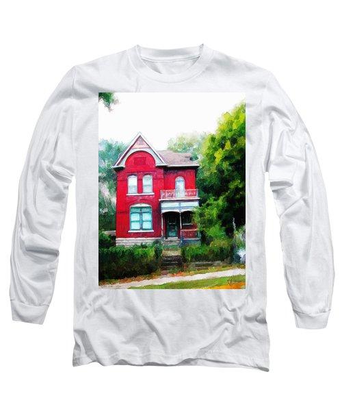 Long Sleeve T-Shirt featuring the painting Market Street by Dave Luebbert