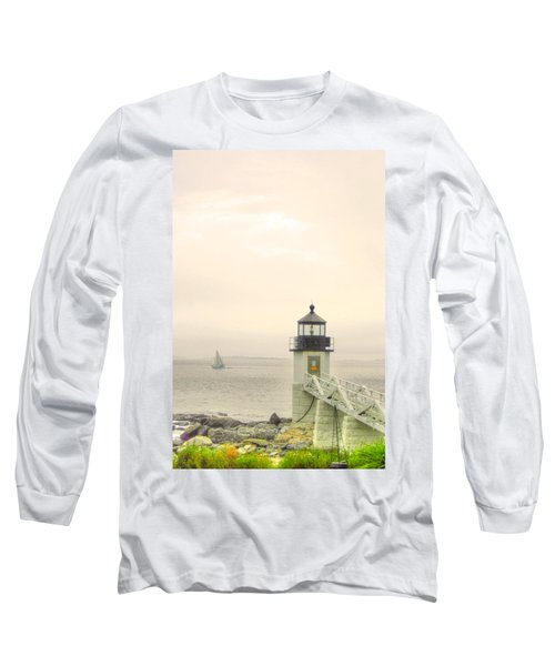 Marshall Point Lighthouse In Maine Long Sleeve T-Shirt
