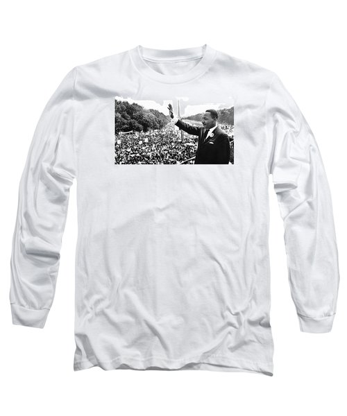 Martin Luther King The Great March On Washington Lincoln Memorial August 28 1963-2014 Long Sleeve T-Shirt by David Lee Guss