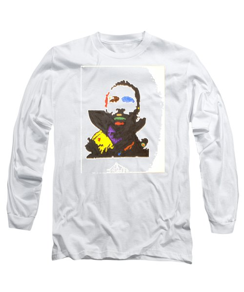 Long Sleeve T-Shirt featuring the painting Marvin Gaye by Stormm Bradshaw