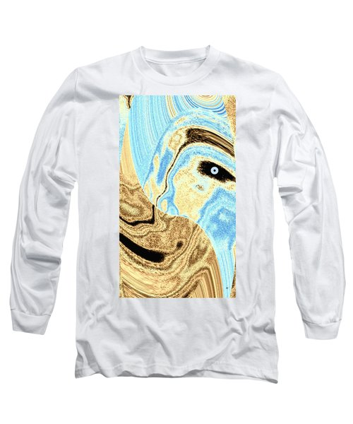Masked- Man Abstract Long Sleeve T-Shirt