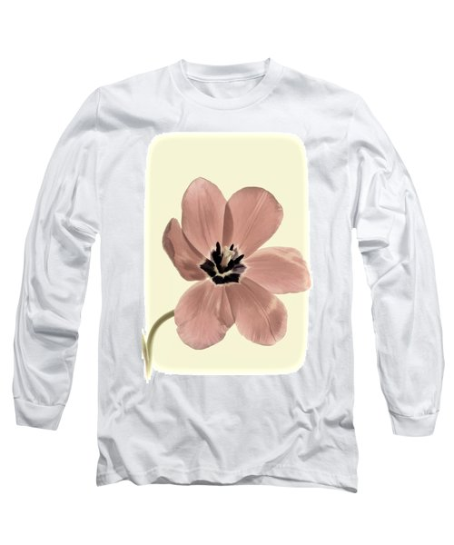 Mauve Tulip Transparency Long Sleeve T-Shirt
