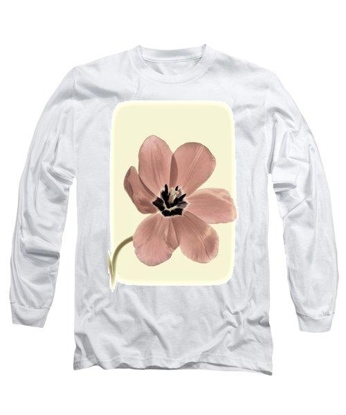 Mauve Tulip Transparency Long Sleeve T-Shirt