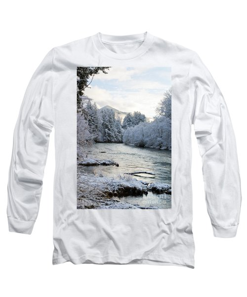 Long Sleeve T-Shirt featuring the photograph Mckenzie River by Belinda Greb