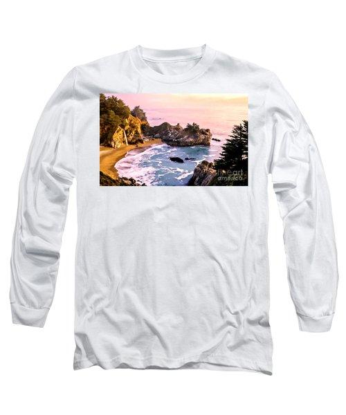 Mcway Falls Pacific Coast Long Sleeve T-Shirt by Bob and Nadine Johnston