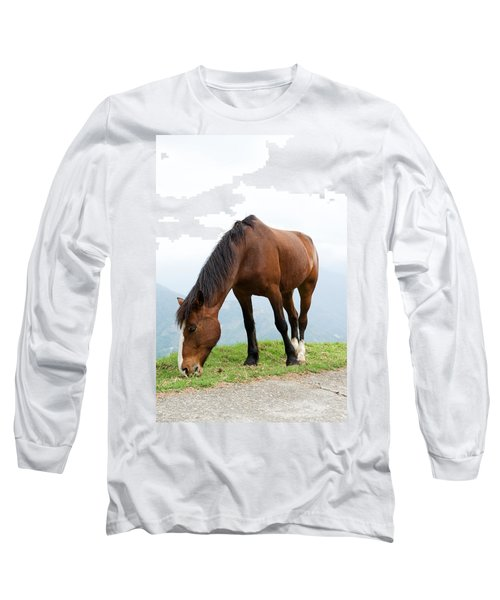Long Sleeve T-Shirt featuring the photograph Meal Time by Yew Kwang