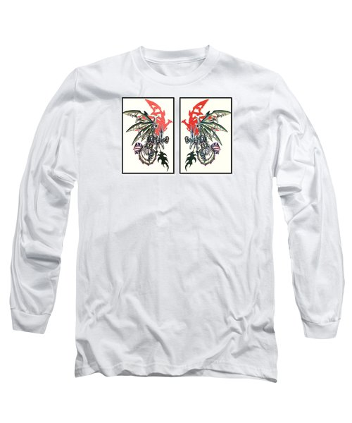 Mech Dragons Collide Long Sleeve T-Shirt by Shawn Dall