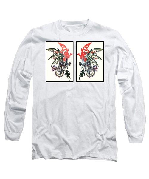 Mech Dragons Collide Long Sleeve T-Shirt