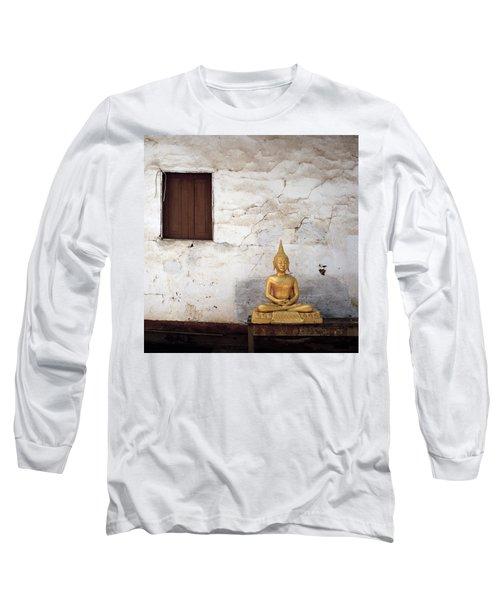 Meditation In Laos Long Sleeve T-Shirt