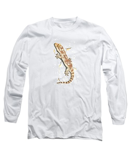 Mediterranean House Gecko Long Sleeve T-Shirt by Cindy Hitchcock