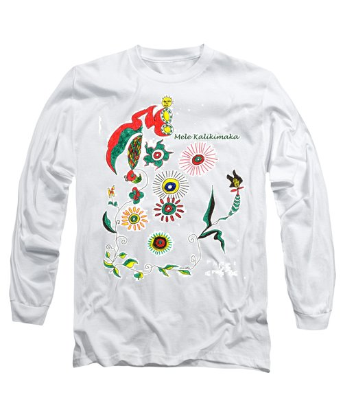 Mele Kalikimaka Long Sleeve T-Shirt by Mukta Gupta