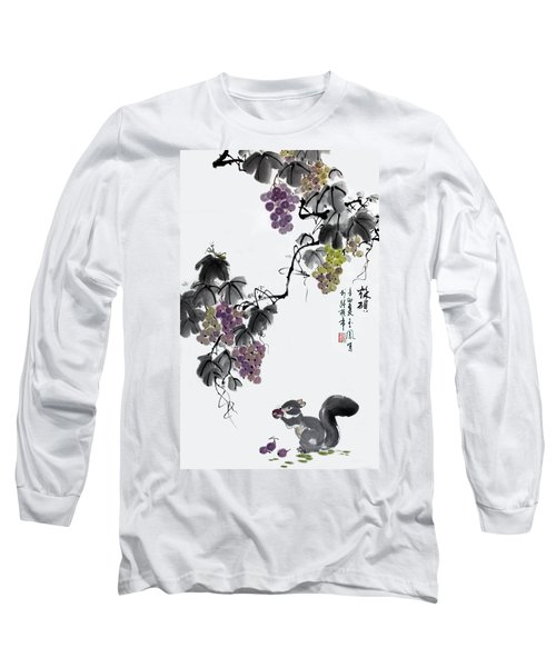 Long Sleeve T-Shirt featuring the painting Melody Of Life II by Yufeng Wang
