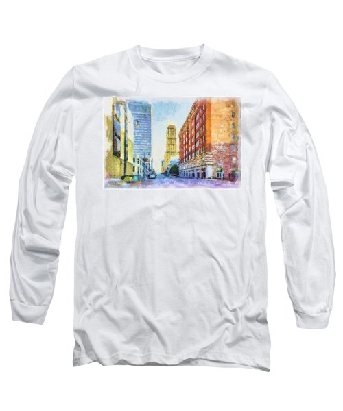 Memphis City Street Long Sleeve T-Shirt by Barry Jones
