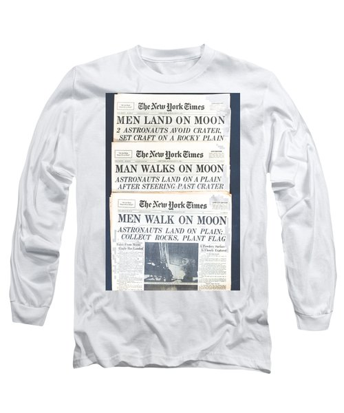 Men Walk On The Moon Long Sleeve T-Shirt by Kenneth Cole