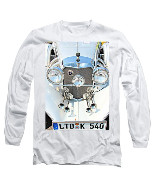 Vintage Long Sleeve T-Shirt featuring the photograph Mercedes Of Old  by Aaron Berg
