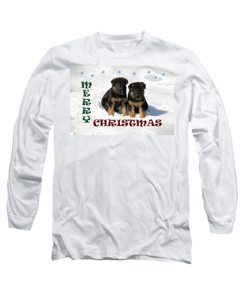 Merry Christmas Puppies Long Sleeve T-Shirt