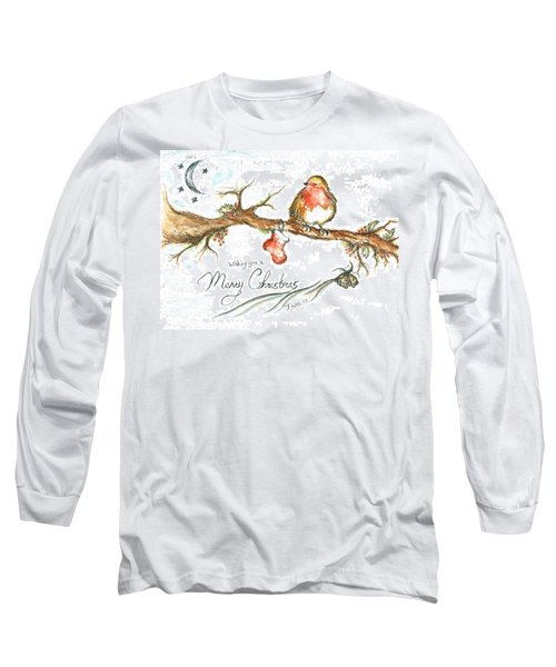 Merry Christmas Robin Long Sleeve T-Shirt