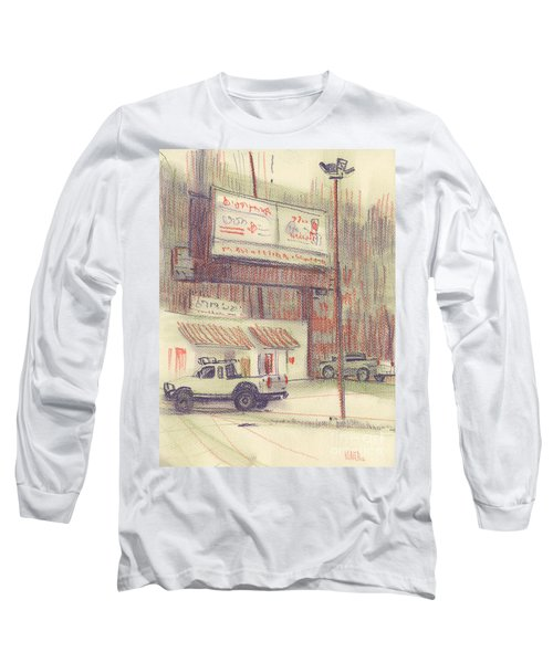 Long Sleeve T-Shirt featuring the painting Mexican Take Out by Donald Maier