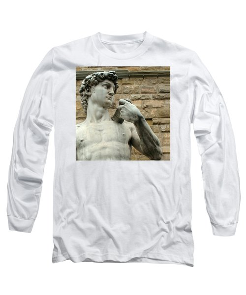 Michelangelo's David 1 Long Sleeve T-Shirt by Ellen Henneke