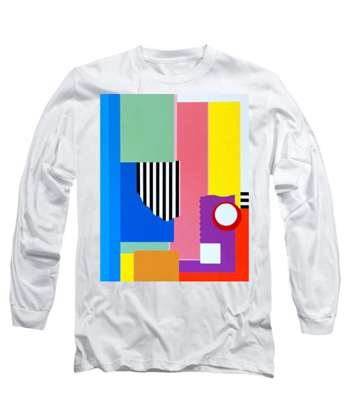 Long Sleeve T-Shirt featuring the painting Mid Century Compromise by Thomas Gronowski