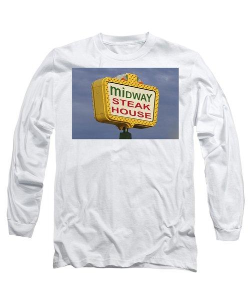 Midway Seaside Heights Boardwalk Nj Long Sleeve T-Shirt