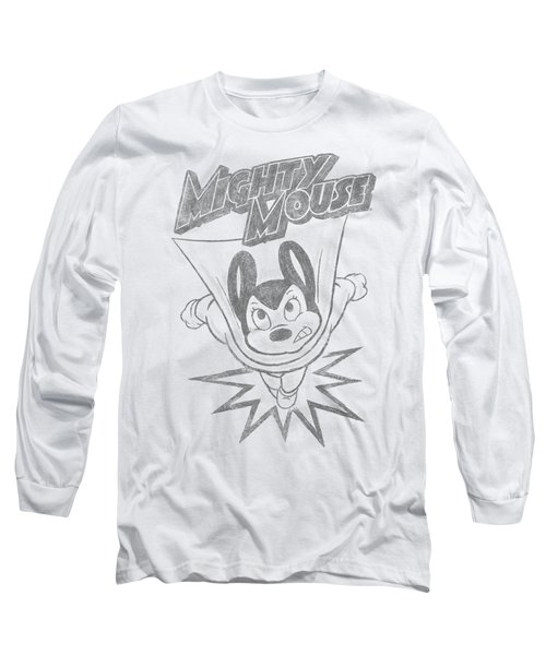 Mighty Mouse - Bursting Out Long Sleeve T-Shirt by Brand A