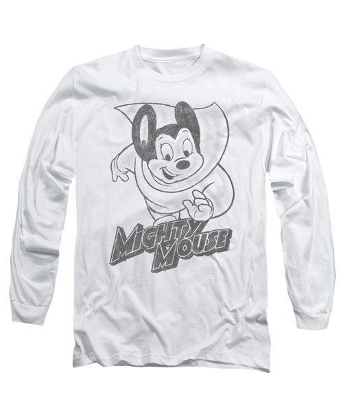 Mighty Mouse - Mighty Sketch Long Sleeve T-Shirt by Brand A