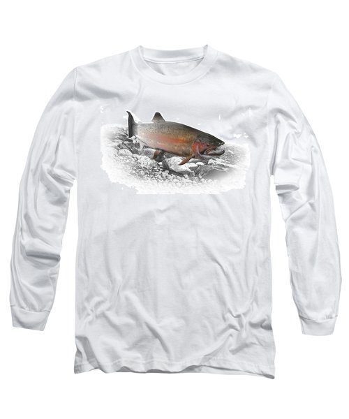 Migrating Steelhead Rainbow Trout Long Sleeve T-Shirt