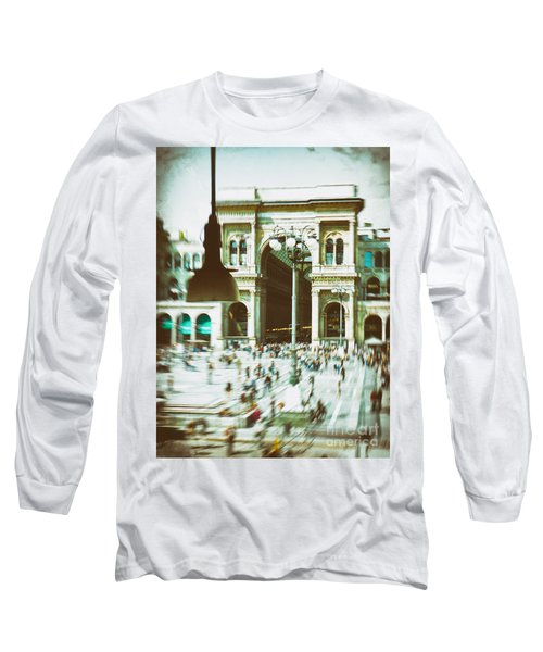 Long Sleeve T-Shirt featuring the photograph Milan Gallery by Silvia Ganora