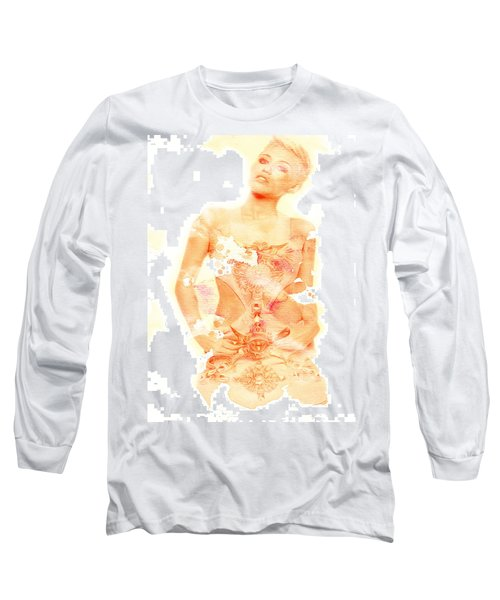 Long Sleeve T-Shirt featuring the digital art Miley by Brian Reaves