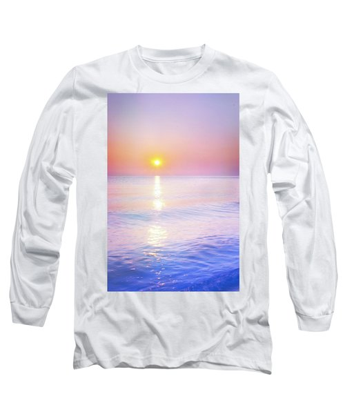 Long Sleeve T-Shirt featuring the photograph Milky Sunset by Lilia D