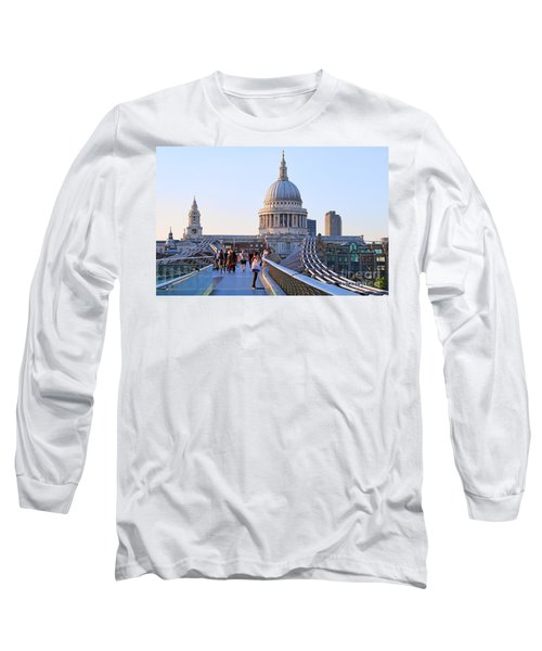 Millennium Bridge And St Pauls Cathedral 5403 Long Sleeve T-Shirt