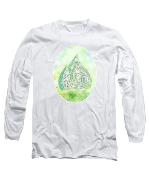 Long Sleeve T-Shirt featuring the drawing Mini Forest Illustration by Lenny Carter