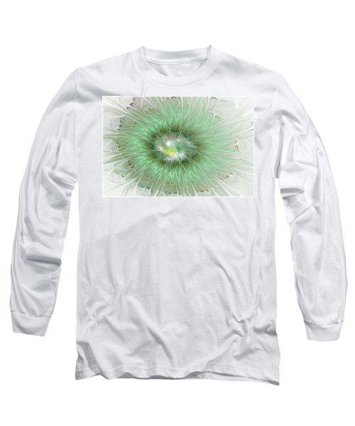 Long Sleeve T-Shirt featuring the digital art Mint Green by Svetlana Nikolova