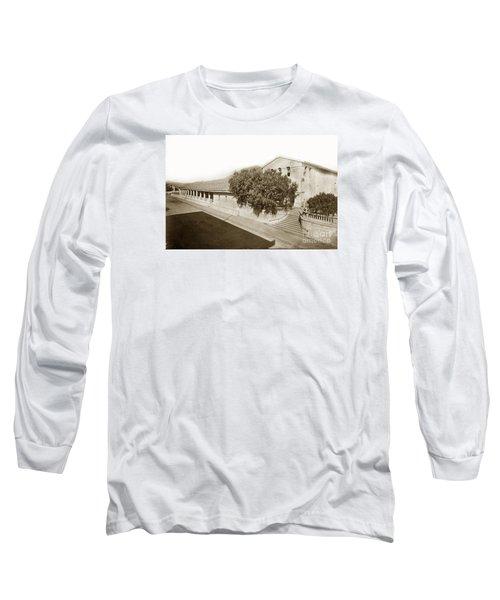 Mission San Luis Obispo De Tolosa California 1880  Long Sleeve T-Shirt by California Views Mr Pat Hathaway Archives
