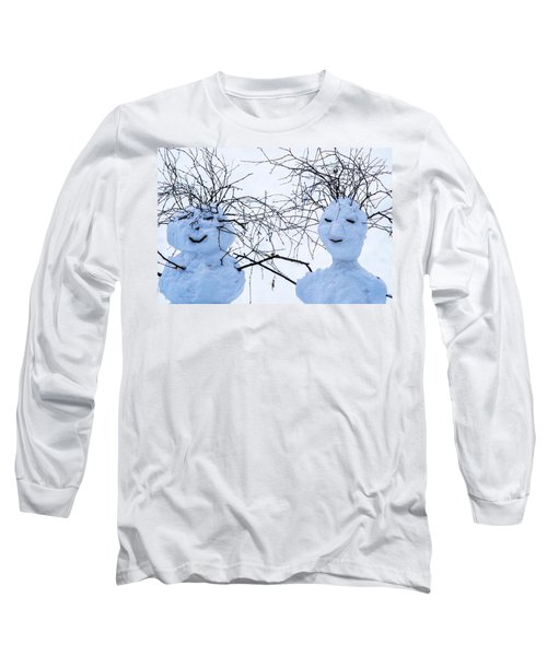 Mister And Missis Snowball - Featured 3 Long Sleeve T-Shirt by Alexander Senin
