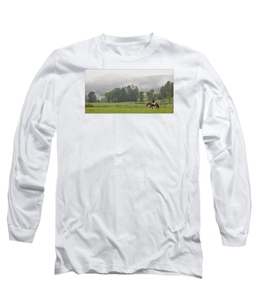 Long Sleeve T-Shirt featuring the photograph Misty Morning Ride by Joan Davis