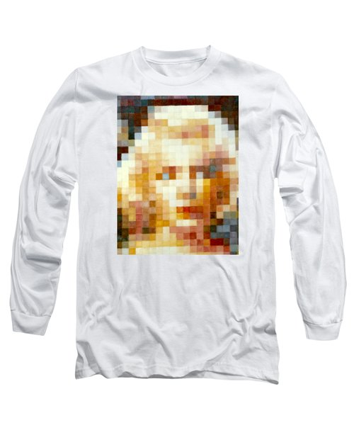 Long Sleeve T-Shirt featuring the painting Marylin by Henryk Gorecki