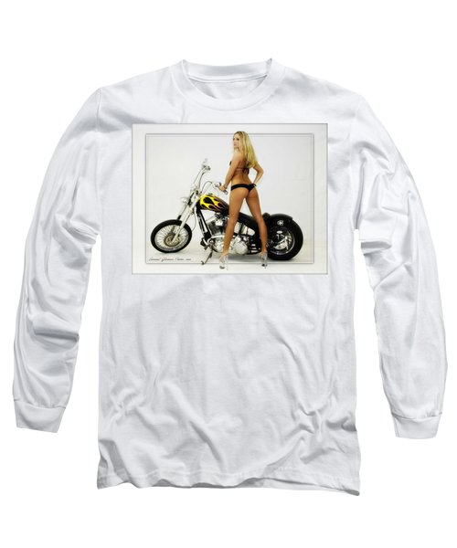 Models And Motorcycles_j Long Sleeve T-Shirt
