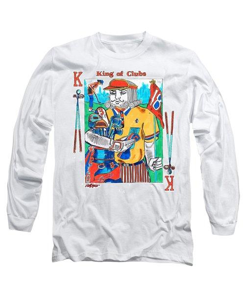 Modern King O' Clubs Long Sleeve T-Shirt by Seth Weaver